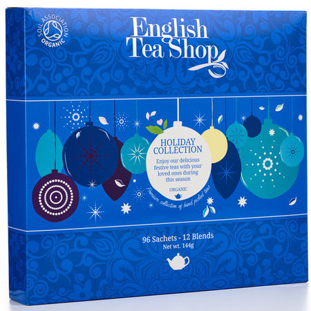 English Tea Shop - Organic Holiday Collection - Blue Bauble Tray