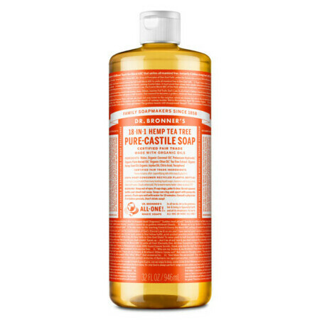 Dr Bronner's Pure-Castile Liquid Soap - Tea Tree