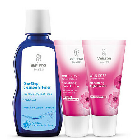 Weleda Wild Rose Smoothing Set for Normal to Combination Skin