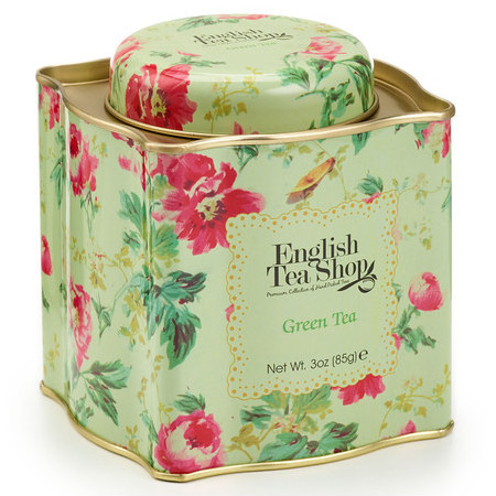English Tea Shop - Loose Leaf Tea in Shabby Chic Tin - Green Tea