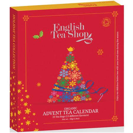 English Tea Shop - Organic Book Style Advent Calendar - Red
