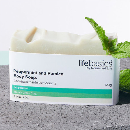 Life Basics Soap - Peppermint & Pumice
