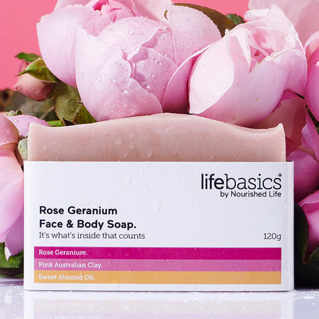 Life Basics Soap - Rose & Geranium