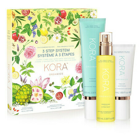 KORA Organics 3 Step System - Oily/Combination Skin