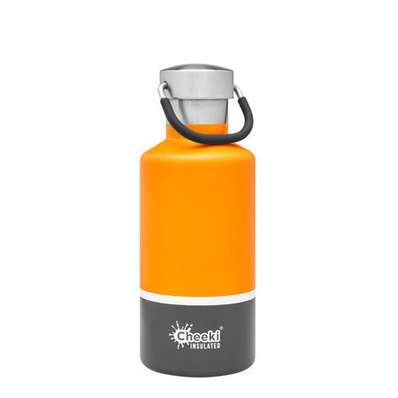 Cheeki Classic Insulated Bottle 400ml - Sunshine Grey