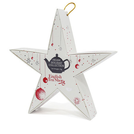 English Tea Shop - Organic Holiday Collection Red Silver Star Gift Pack
