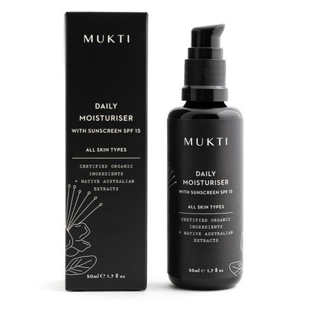 Mukti Organics Daily Moisturiser with Sunscreen SPF15