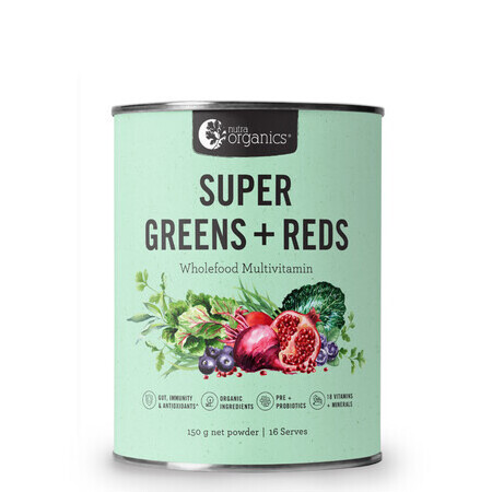 Nutra Organics Super Greens Plus Reds