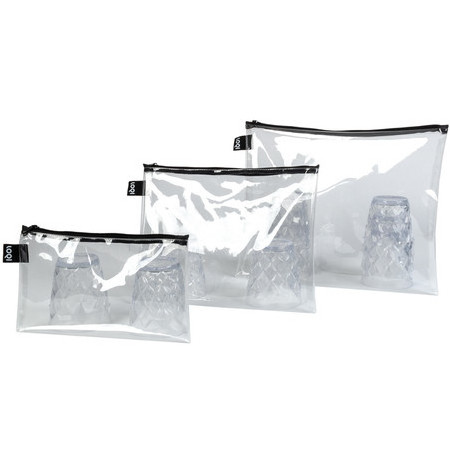 Loqi Transparent Zip Pocket (Set Of 3)
