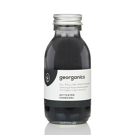 Georganics Oil Pulling Mouthwash - Charcoal