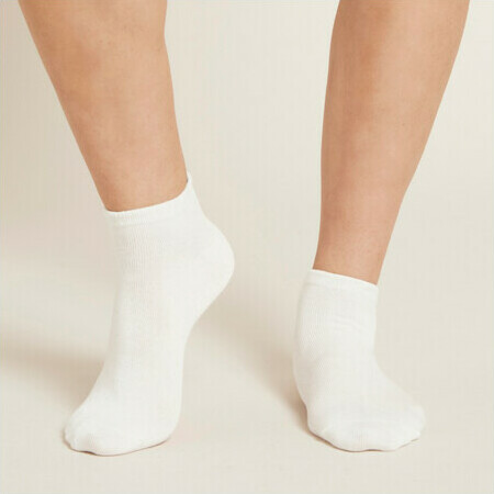 Boody Women's Low Cut Socks - White