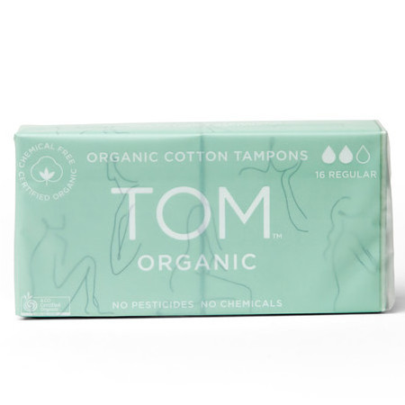 TOM Certified Organic Tampons - Regular