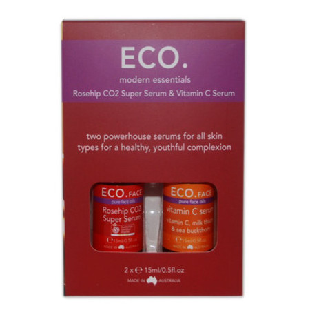 ECO. Face Rosehip CO2 & Vitamin C Serum Duo