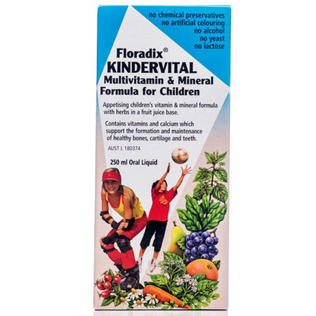 Floradix Kindervital Multivitamin and Mineral Formula For Children