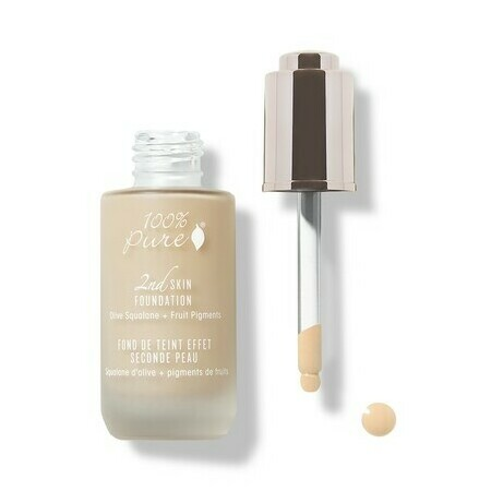 100% Pure 2nd Skin Foundation with Olive Squalane + Fruit Pigments: Creme