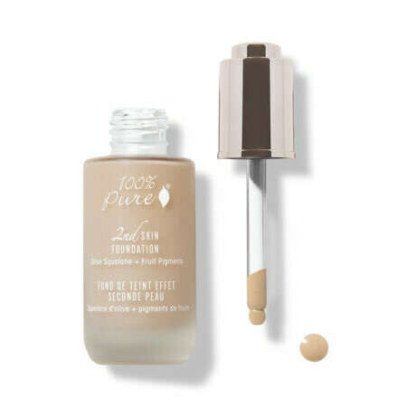 100% Pure 2nd Skin Foundation with Olive Squalane + Fruit Pigments: Peach Bisque