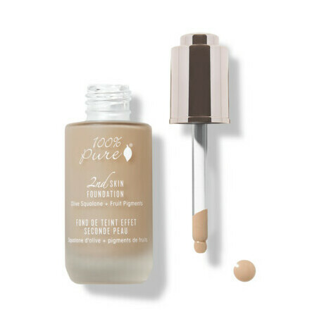 100% Pure 2nd Skin Foundation with Olive Squalane + Fruit Pigments - Shade 5 (Toffee)