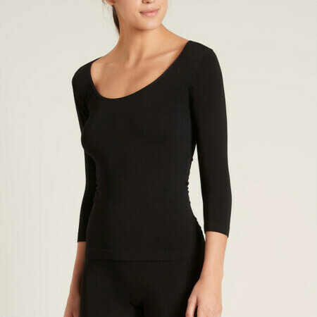 BOODY Bamboo Scoop Top - Black