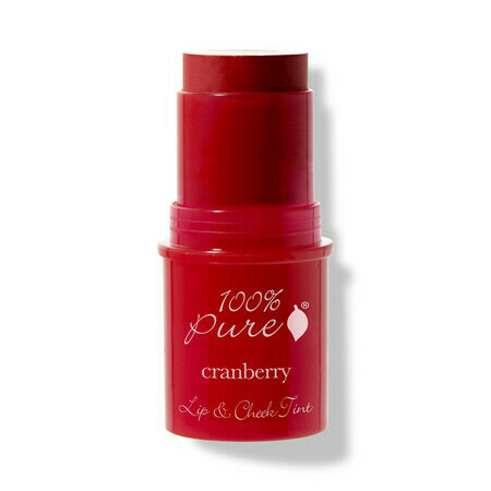 100% Pure Lip2Cheek Cranberry