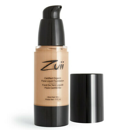 Zuii Flora Liquid Mineral Foundation - Natural Medium