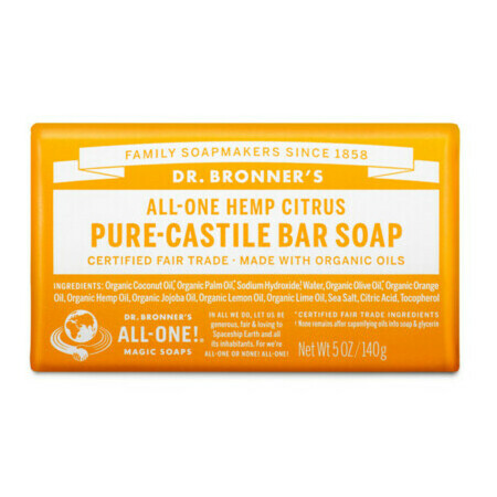Dr Bronner's Pure-Castile Bar Soap - Citrus Orange
