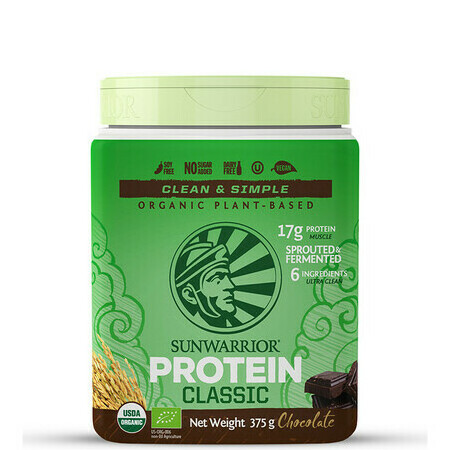 Sunwarrior Classic Plus Raw Vegan Protein Powder - Chocolate