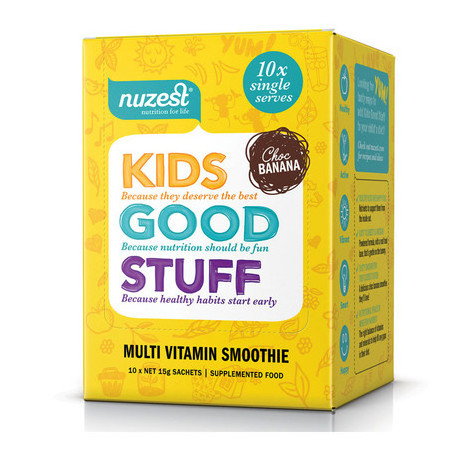 NuZest Kids Good Stuff Sachets - Choc Banana