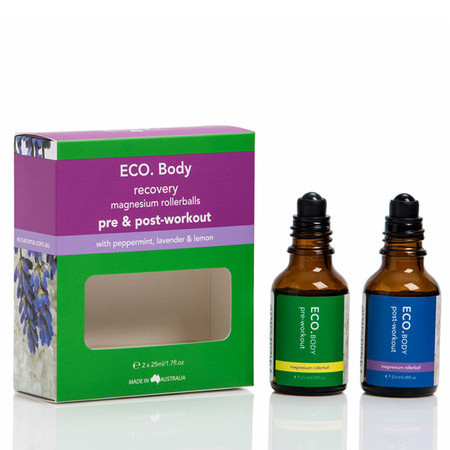 ECO. Body Pre & Post-Workout Magnesium Rollerball Duo