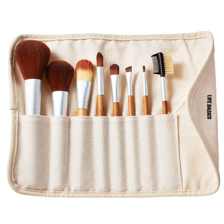 Life Basics Bamboo Vegan Makeup Brush Set