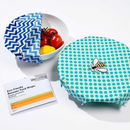 Life Basics Eco Friendly Beeswax Food Wraps - Starter Pack