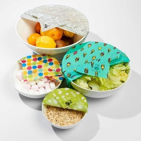 Sustomi Beeswax Wraps - 4-Pack Be Fully Wrapped