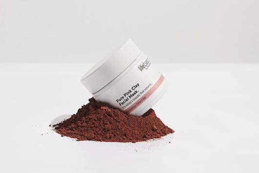 Natural pink clay powder mask
