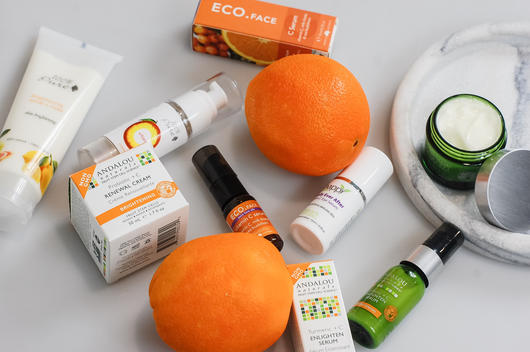 Vitamin C rich skin care range