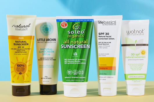 Natural zinc sunscreens