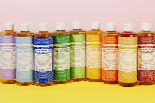 Dr Bronner's soap rainbow