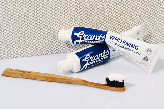 Grants of Australia natural whitening toothpaste with baking soda