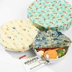 Wrappa Reusable BEESWAX Food Wraps - 3-Pack