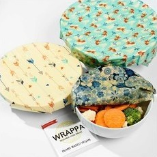 Wrappa Reusable VEGAN Food Wraps - 3-Pack