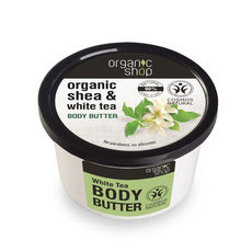 Organic Shop Body Butter - Organic Shea & White Tea
