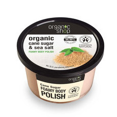 Organic Shop Body Polish - Organic Cane Sugar & Sea Salt