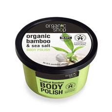 Organic Shop Body Polish - Organic Bamboo & Sea Salt