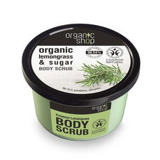 Organic Shop Body Scrub - Organic Lemongrass & Sugar