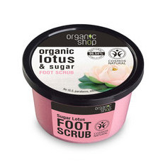 Organic Shop Foot Scrub - Organic Lotus & Sugar