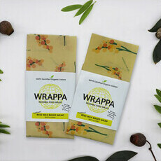 Wrappa Reusable BEESWAX Jumbo Wraps - Wattle