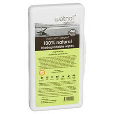 WOTNOT Biodegradable Baby Wipes - 20 Pack Travel Case