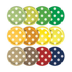 Mortier Pilon Mason Jar Lids - Set of 12 Polka Dot