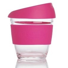 Life Basics Small Reusable Glass Coffee Cup - Pink