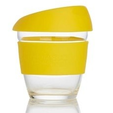 Life Basics Small Reusable Glass Coffee Cup - Yellow