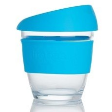 Life Basics Small Reusable Glass Coffee Cup - Blue