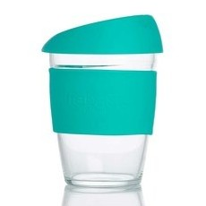 Life Basics Large Reusable Glass Coffee Cup - Forest Green